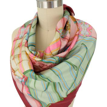 House of Florence Esopo Print Silk Designer Scarf