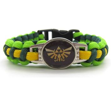 2017 The Legend of Zelda: Breath of the Wild Paracord Bracelets Hot Game Rope Chain Fashion Handmade Jewelry for Women Men fans