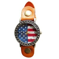 Restoring Ancient Ways the American Flag Fashion Watches