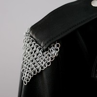 Artisan Maille Armour Galvanized Steel Epaulets for Leather Jacket Straps