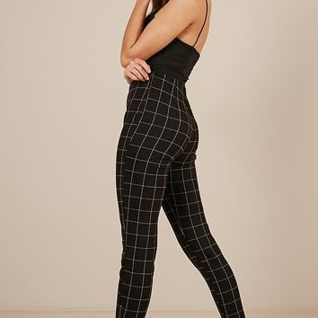 In The Rhythm Pants in black check Produced By SHOWPO