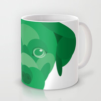 Green Puppy Mug by Natalie Ryder