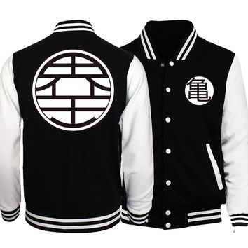 Trendy Dragon Ball Z Jacket Men Japan Anime Harajuku Baseball Uniform 2018 Spring Super Saiyan Coat Master Roshi Vegeta Jackets Homme AT_94_13