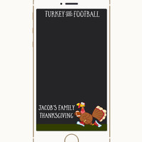 Thanksgiving Snapchat Geofilter, Friendsgiving Gofilter, Geofilter, Thanksgiving filter, Autumn Geofilter, Turkey and Football