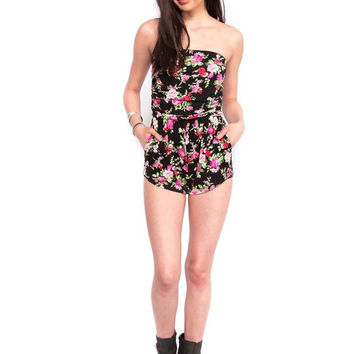 You Fancy Huh Floral Romper