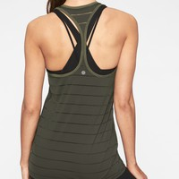 Stripe Mesh High Neck Chi Tank | Athleta