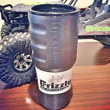 Grizzly Coolers Grip Cup Tumbler Black 20oz