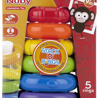nuby stack o' rings weeble wobble Case of 16
