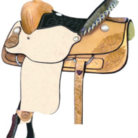 "Billy Cook 14"" Stockyard Youth Roper Saddle"