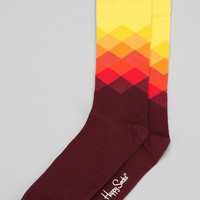 Happy Socks Faded Diamond Sock - Urban Outfitters