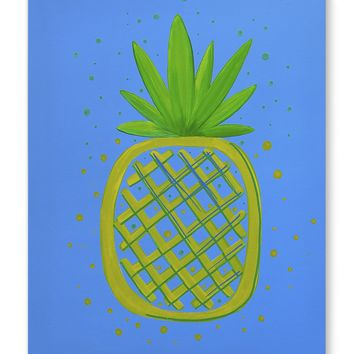 PINEAPPLE YELLOW Canvas Art By Paint That Ugly Thing