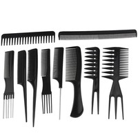 10pcs Professional Hair Styling Combs Hairdresser Accessories Tools Set