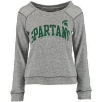 Michigan State Spartans Women's Moonlight Crew Neck Sweater - Gray