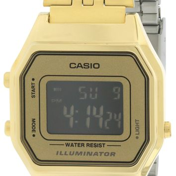Casio Gold- Tone Digital Retro Watch LA680WGA-9B