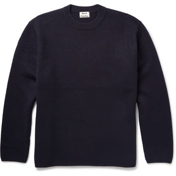 Acne Studios - Micha Oversized Boiled Wool Sweater | MR PORTER