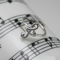 Sterling Silver Musical Note Ring