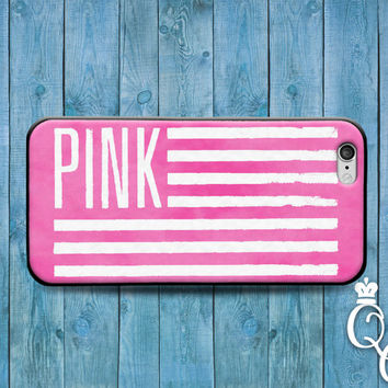 iPhone 4 4s 5 5s 5c 6 6s plus iPod Touch 4th 5th 6th Generation Beautiful Love Pink Flag Girly Girl Cute Custom Phone Cover Adorable Case