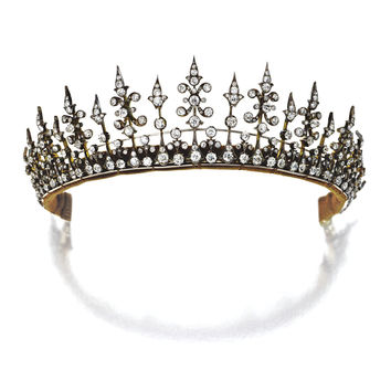 Diamond tiara/necklace combination, circa 1890 | lot | Sotheby's