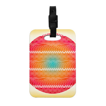 "Famenxt ""Romantic Pattern"" Red Abstract Decorative Luggage Tag"