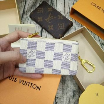 Louis Vuitton Monogram Canvas Key Pouch Key case - purse White
