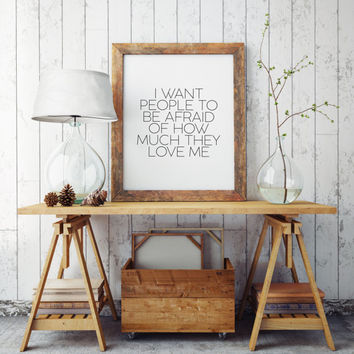 Gift Idea Typographic print Typography quote Wall artwork Quote Print Printable The Office Michael Scott TV Quote Inspirational quote Poster