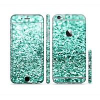 The Tiffany Green Glimmer Sectioned Skin Series for the Apple iPhone 6s Plus