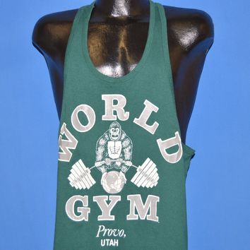 80s World Gym Provo Utah Tank Top t-shirt Large