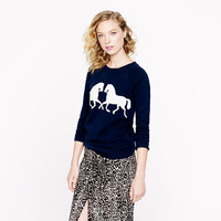Horsing around sweatshirt - long-sleeve tees - Women's knits & tees - J.Crew