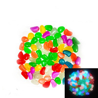2016 New 10PCS Luminous Light-emitting Artificial Pebble Stone Fish Tank Aquarium Stone Decoration free shipping