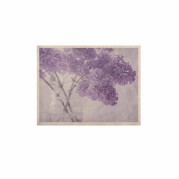 "Suzanne Harford ""Lilacs"" Purple Floral KESS Naturals Canvas (Frame not Included)"