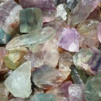 Fantasia Materials: 1 lb Rainbow Fluorite Rough - (Select 1 to 18 lbs) - Raw Natural Crystals for Cabbing, Cutting, Lapidary, Tumbling, Polishing, Wire Wrapping, Wicca and Reiki Crystal Healing