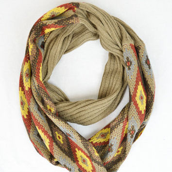 Diamond Ribbed Infinity Scarf Cozy Warm BOHO Circle Scarf Lightweight Stocking Stuffers Gifts For Her xmas [Ships in 2 weeks]