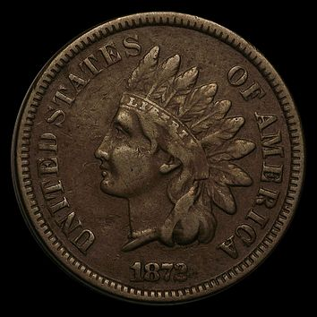 1872 Indian Head Cent VF
