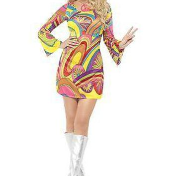 Adult 60s Sexy Flower Power Costume