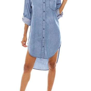 Women's Denim Shirtdress RSD360 - C3B