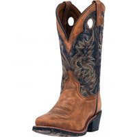 Laredo Mens Stillwater Tan Black Square Toe Western Cowboy Boot