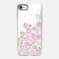 Garden Rose and Dots - Blush iPhone 7 Case by Lisa Argyropoulos | Casetify