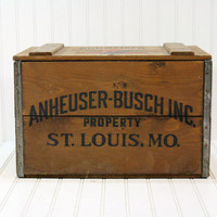 Vintage Wooden Anheuser-Busch Co. Wooden Crate
