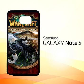 World of Warcraft Guardian Druid Mists of Pandaria Z0652  Samsung Galaxy Note 5 Case