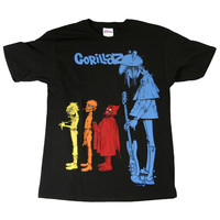 Gorillaz: Rock The House Shirt - Black
