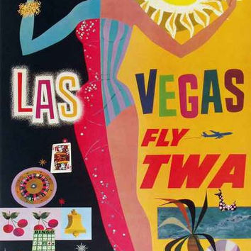 Las Vegas Retro Travel Poster 11x17