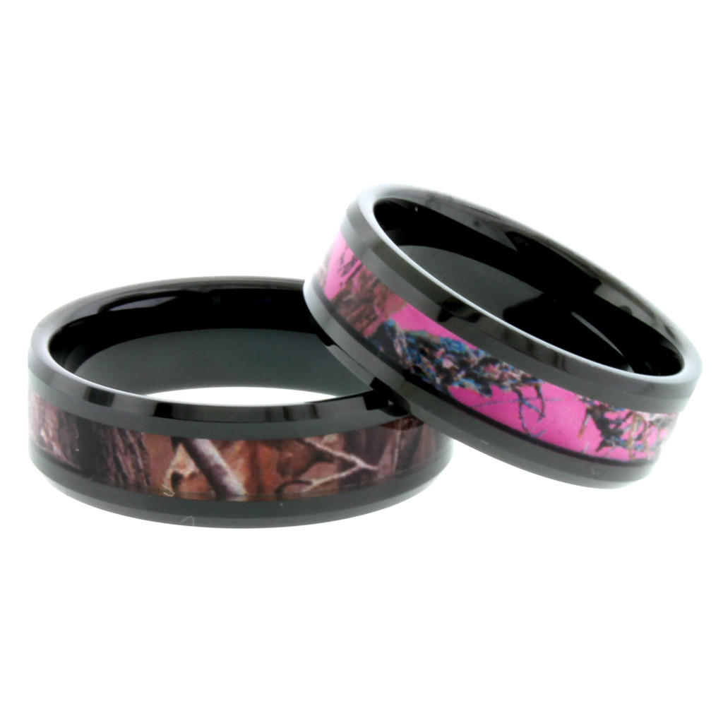 ring black by whitebg camo ideas awesome ceramic rings wedding pink