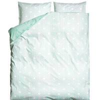 H&M - King/Queen Duvet Cover Set - Turquoise