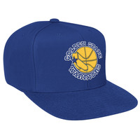 Mitchell & Ness Golden State Warriors Wool Solid Snapback In Blue