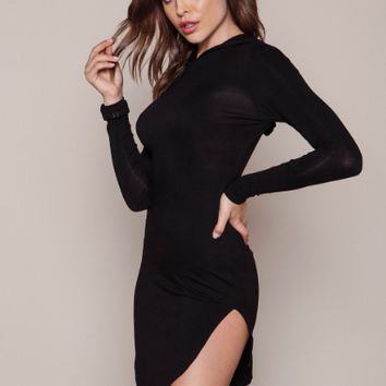 Casual Hoodies Bodycon Dress