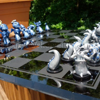 Cthulhu Chess Set  by Little Fat Dragons