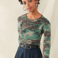 Vintage Camo Thermal Top | Urban Outfitters