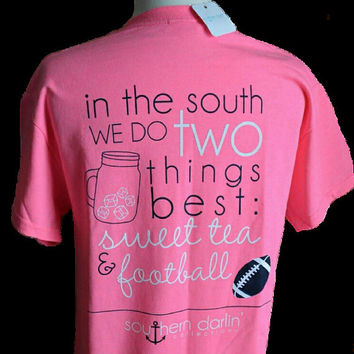Southern Darlin Sweet Tea & Football Tee
