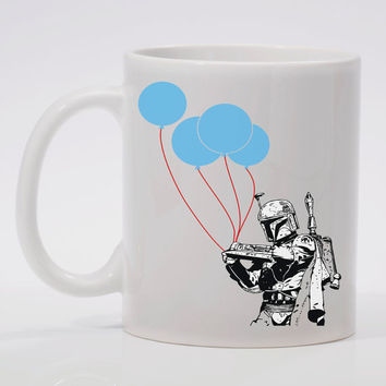 "Boba Fett Everyday Balloons   ""Coffee Mug"""