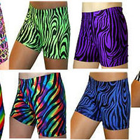 Girls Crazy Sports SHORTS BRIEFS Compression 4 in DANCE CHEER SOCCER VOLLEYBALL